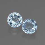 thumb image of 1.9ct Round Facet Swiss Blue Topaz (ID: 444619)
