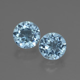 thumb image of 2.1ct Round Facet Swiss Blue Topaz (ID: 444624)