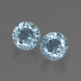 thumb image of 2.3ct Round Facet Swiss Blue Topaz (ID: 444627)