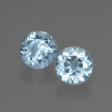 thumb image of 2ct Round Facet Swiss Blue Topaz (ID: 444628)