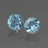 thumb image of 2.1ct Round Facet Swiss Blue Topaz (ID: 444694)