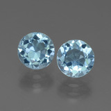 thumb image of 2.2ct Round Facet Swiss Blue Topaz (ID: 444700)