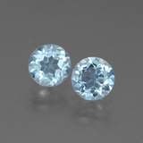 thumb image of 1ct Round Facet Swiss Blue Topaz (ID: 444747)