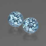 thumb image of 2.2ct Round Facet Swiss Blue Topaz (ID: 444782)