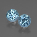 thumb image of 2ct Round Facet Swiss Blue Topaz (ID: 444848)