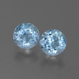 thumb image of 2ct Round Facet Swiss Blue Topaz (ID: 444901)