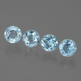 thumb image of 4.1ct Round Facet Swiss Blue Topaz (ID: 444940)