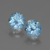 thumb image of 2.1ct Round Facet Swiss Blue Topaz (ID: 444994)