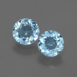 thumb image of 2ct Round Facet Swiss Blue Topaz (ID: 445009)