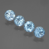 thumb image of 3.7ct Round Facet Swiss Blue Topaz (ID: 445023)