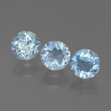 thumb image of 3ct Round Facet Swiss Blue Topaz (ID: 445043)