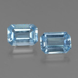thumb image of 2ct Octagon Step Cut Swiss Blue Topaz (ID: 448018)