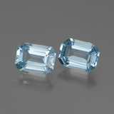 thumb image of 1.1ct Octagon Step Cut Baby Blue Topaz (ID: 448285)
