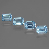 thumb image of 4.3ct Octagon Step Cut Swiss Blue Topaz (ID: 448380)