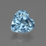 thumb image of 2.9ct Heart Facet Swiss Blue Topaz (ID: 448393)