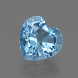 thumb image of 3.3ct Heart Facet Swiss Blue Topaz (ID: 448405)