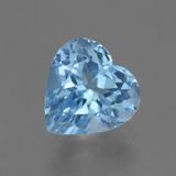 thumb image of 3.2ct Heart Facet Swiss Blue Topaz (ID: 448407)