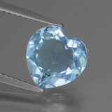 thumb image of 2.7ct Heart Facet Swiss Blue Topaz (ID: 448415)