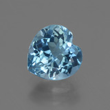 thumb image of 3.3ct Heart Facet Swiss Blue Topaz (ID: 448419)