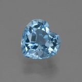 thumb image of 3ct Heart Facet Swiss Blue Topaz (ID: 448426)