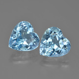 thumb image of 8.8ct Heart Facet Swiss Blue Topaz (ID: 448797)