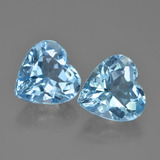 thumb image of 4.3ct Heart Facet Sky Blue Topaz (ID: 448799)