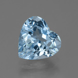 thumb image of 4.2ct Heart Facet Swiss Blue Topaz (ID: 448898)