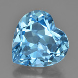 thumb image of 8.5ct Heart Facet Swiss Blue Topaz (ID: 448986)