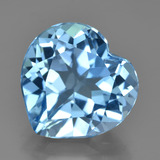 thumb image of 8.3ct Heart Facet Swiss Blue Topaz (ID: 449037)