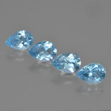 thumb image of 3.6ct Pear Facet Swiss Blue Topaz (ID: 450053)