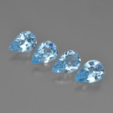 thumb image of 2.7ct Pear Facet Swiss Blue Topaz (ID: 450214)