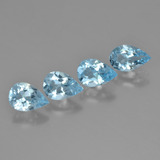 thumb image of 0.7ct Pear Facet Cyan Blue Topaz (ID: 450266)