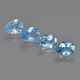 thumb image of 3.1ct Pear Facet Swiss Blue Topaz (ID: 450356)