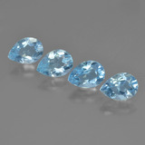thumb image of 3.3ct Pear Facet Swiss Blue Topaz (ID: 450357)