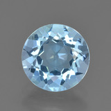 thumb image of 2.1ct Round Facet Sky Blue Topaz (ID: 452162)