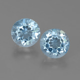 thumb image of 4.9ct Round Facet Sky Blue Topaz (ID: 452194)