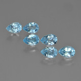 thumb image of 0.5ct Pear Facet Sky Blue Topaz (ID: 452249)