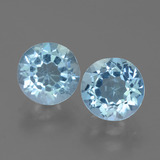 thumb image of 4.9ct Round Facet Sky Blue Topaz (ID: 452286)