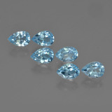 thumb image of 3.6ct Pear Facet Sky Blue Topaz (ID: 452384)