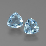 thumb image of 1.3ct Trillion Facet Sky Blue Topaz (ID: 452610)