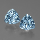 thumb image of 2.9ct Trillion Facet Sky Blue Topaz (ID: 452701)