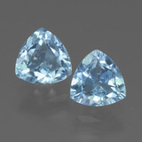 thumb image of 3.3ct Trillion Facet Sky Blue Topaz (ID: 452715)