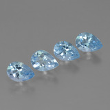 thumb image of 0.8ct Pear Facet Sky Blue Topaz (ID: 454660)