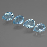 thumb image of 3.7ct Pear Facet Sky Blue Topaz (ID: 454734)