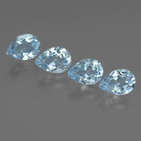 thumb image of 0.8ct Pear Facet Sky Blue Topaz (ID: 454735)