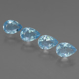 thumb image of 3.5ct Pear Facet Sky Blue Topaz (ID: 454736)