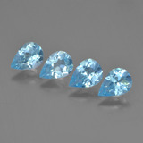 thumb image of 3ct Pear Facet Sky Blue Topaz (ID: 454835)