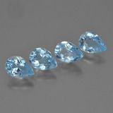 thumb image of 3.4ct Pear Facet Sky Blue Topaz (ID: 454836)