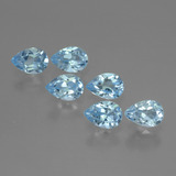 thumb image of 3.4ct Pear Facet Sky Blue Topaz (ID: 454880)