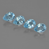 thumb image of 0.8ct Pear Facet Sky Blue Topaz (ID: 454916)